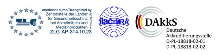 ZLG Anerkennung und DAKKS Akkreditierungs Siegel